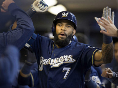 Attention: Brewers to give away free 'Revere the Beerd' Eric Thames T-shirts Image