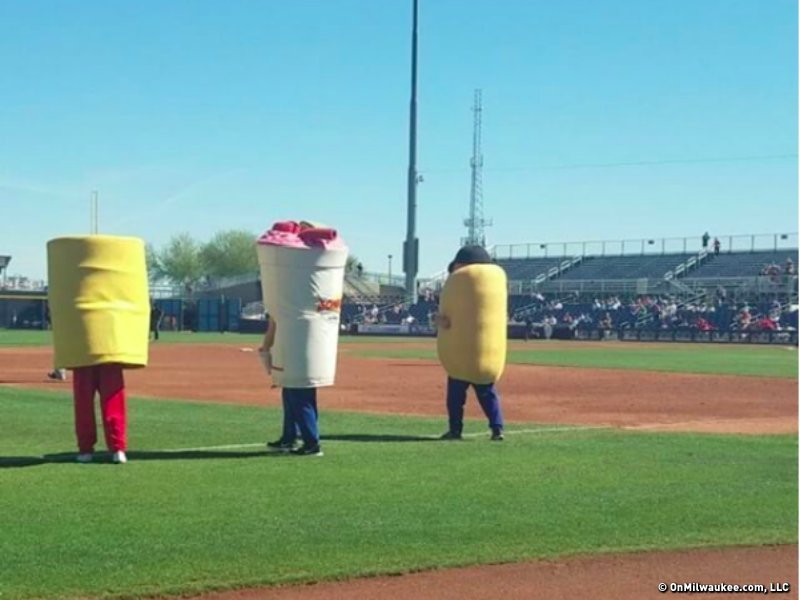 This is what the Padres call a mascot race?
