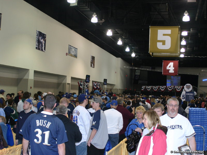 A record crowd of 11299 attended Brewers On Deck.