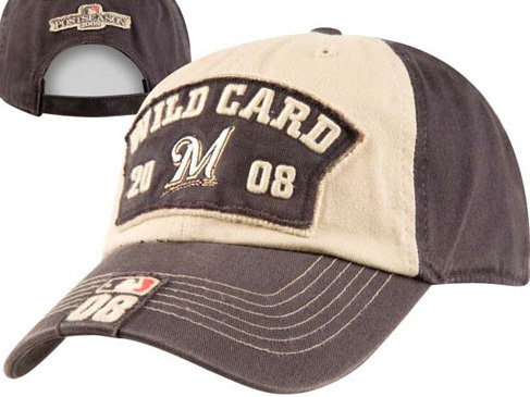 The hat that Brewers players wore after winning the wild card is available  at the FanZone Store. 273bcb2784d8
