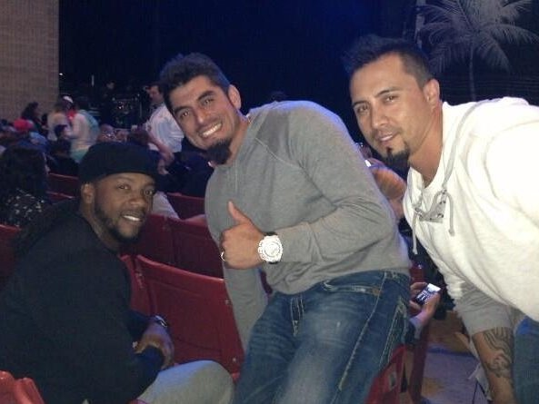 Milwaukee Brewers Rickie Weeks, Matt Garza and Kyle Lohse took in Bruno Mars on the opening night of Summerfest.
