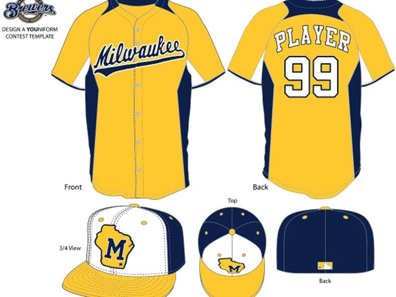 9148bf083f8 Vote on fan designed Brewers spring training uniforms - OnMilwaukee