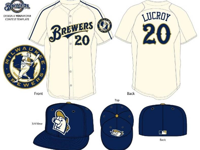 finest selection 9b3fe 8eb92 Vote on fan designed Brewers spring training uniforms ...