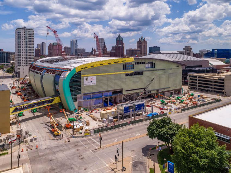 7 Cool Drone Photos Of The Bucks New Arena Construction