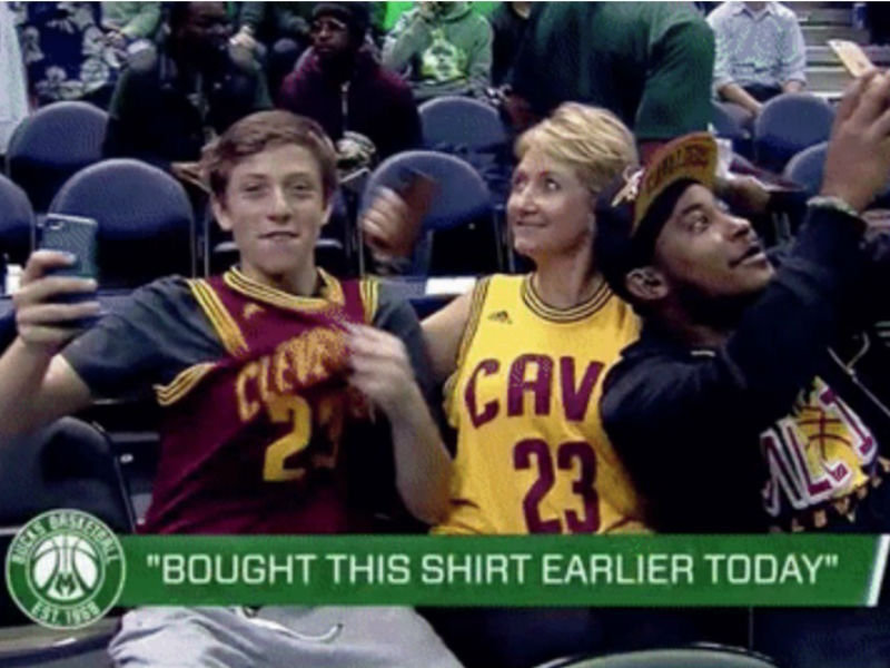 The Bucks' Bandwagon Cam trolled Cavaliers 'fans,' and it was fantastic