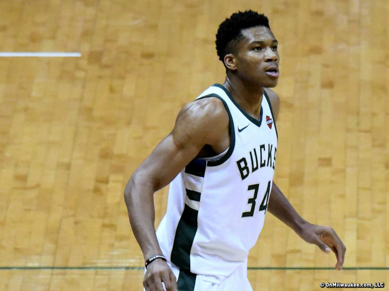 best authentic 82717 4a716 Giannis Antetokounmpo receives most player votes, named All ...