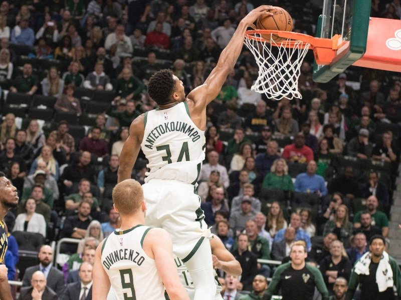 a96cfb1fa Giannis Antetokounmpo led all scorers with 26 points on Friday night during  the first regular season game at the new Fiserv Forum.