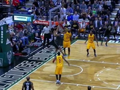 Brogdon dunks on LeBron Image