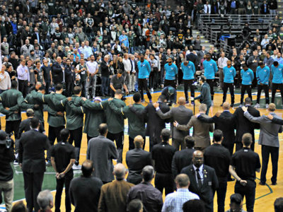 Take your shot at singing the national anthem for an upcoming Bucks game Image