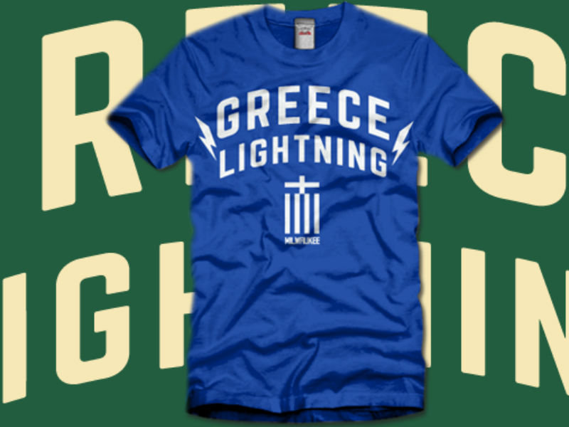 Greece Lightning Gaze Upon Too Much Metals New Giannis Loving T