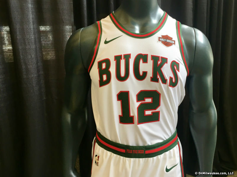 3ceb6b944546 The Bucks  Classic Edition jersey is a modern take on Milwaukee s original  uniform from 1968.