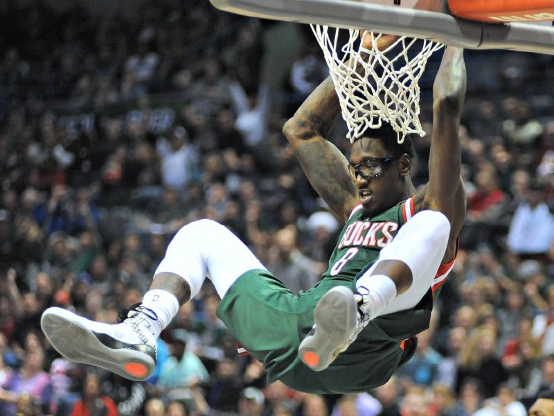 Larry Sanders and the Milwaukee Bucks played to a sellout crowd in their season opening win over Philadelphia.