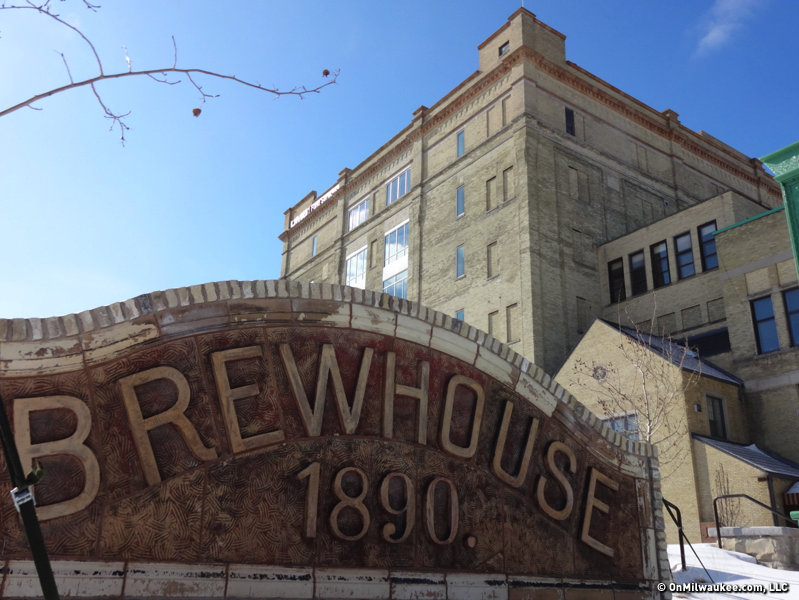 The Stock House at Schlitz Park now houses the Milwaukee Bucks.