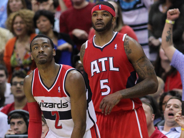 Atlanta Hawks star Josh Smith, right, used to be a Milwaukee Buck. Sort of.