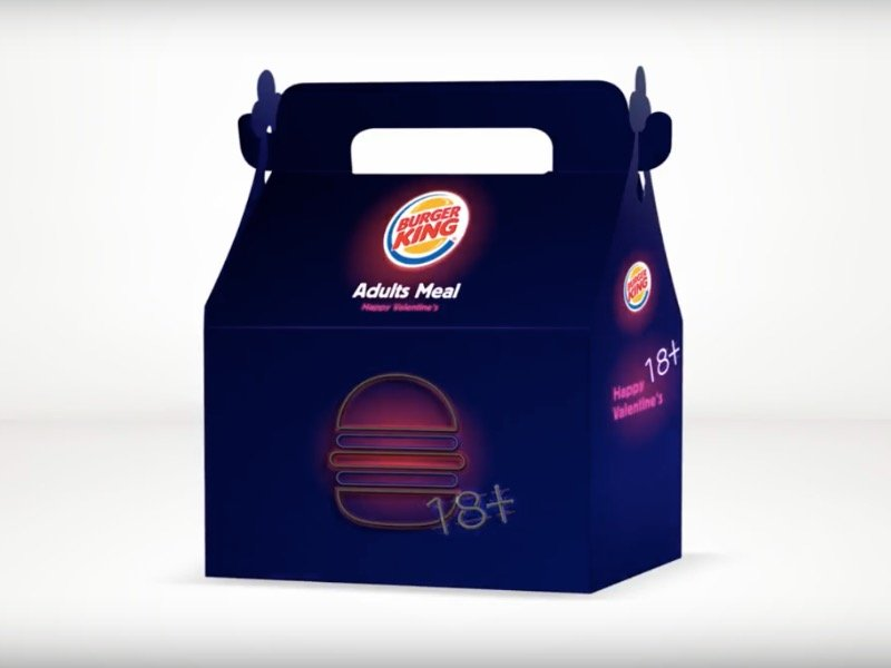 "Some Burger King locations will be dishing out ""Adults Meals"" - complete with a sex toy - for Valentine's Day."