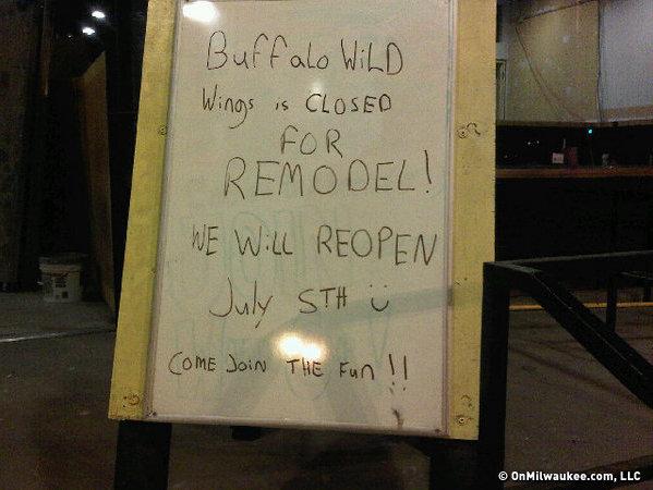Water Street Buffalo Wild Wings Closed Until July 5 Onmilwaukee