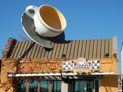 Want a giant coffee cup? The new Caradaro Club on Vliet Street can help