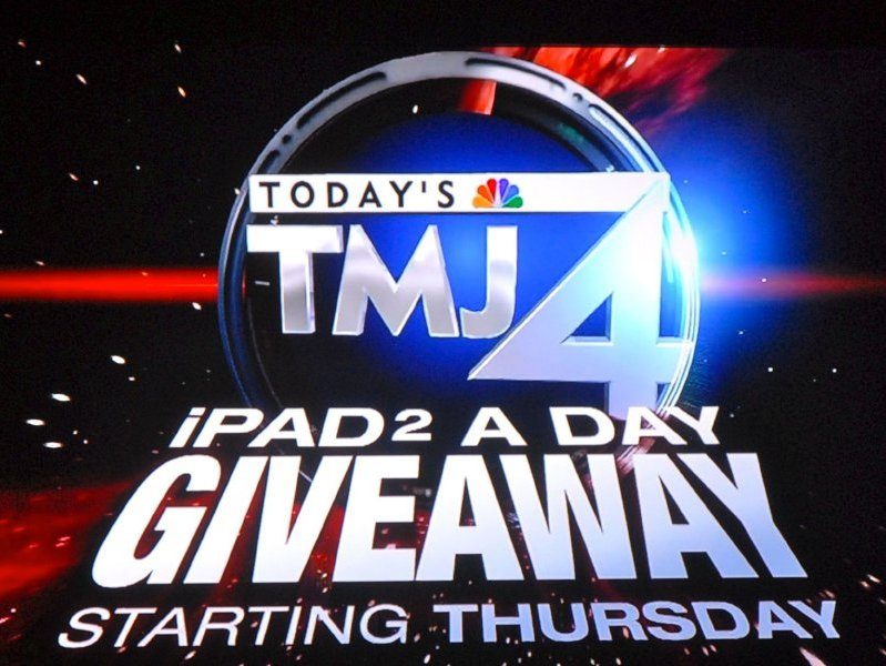 Watch news, win iPad.