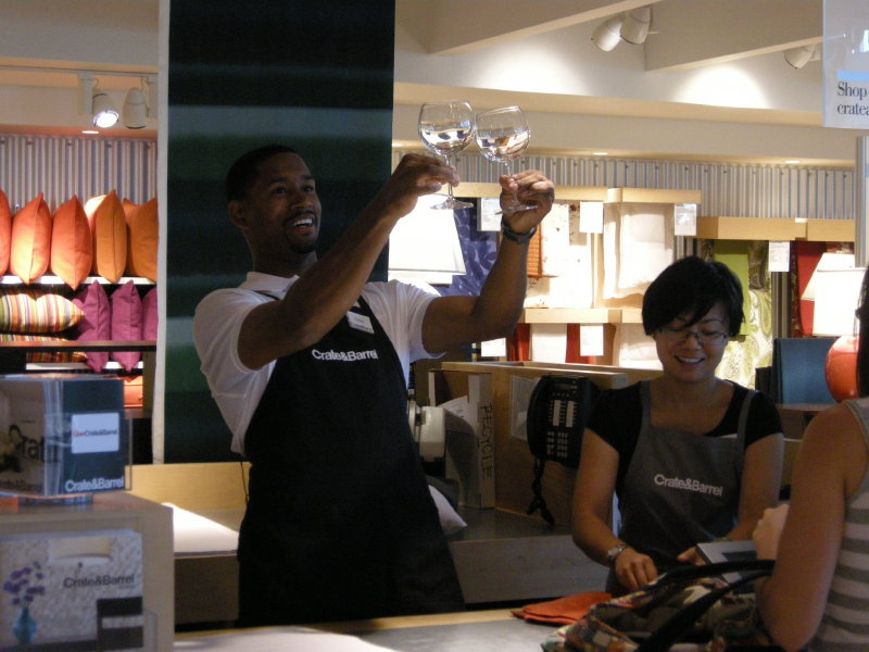 Bucks Guard Charlie Bell Worked A Shift At Crate Barrel