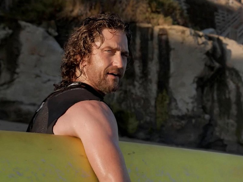 "Gerard Butler stars in ""Chasing Mavericks."""