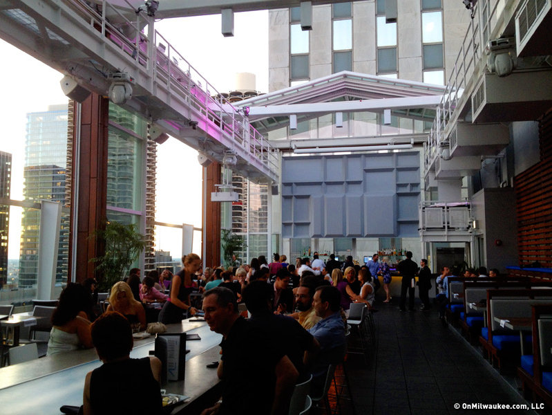 Rooftop At The Wit Has Great Views, Fine Food And A Vibrant Atmoshpere  Under Its Retractable Roof.