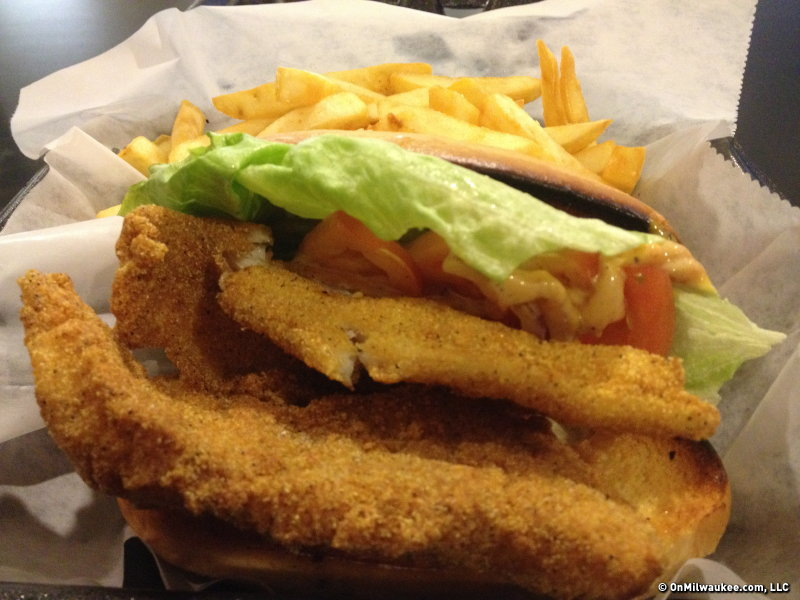 This catfish po' boy at Chic Cafe will run you $7.95 and it's worth it.