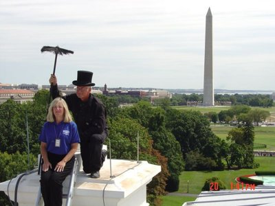 Local chimney sweep maintains White House's fireplaces Image
