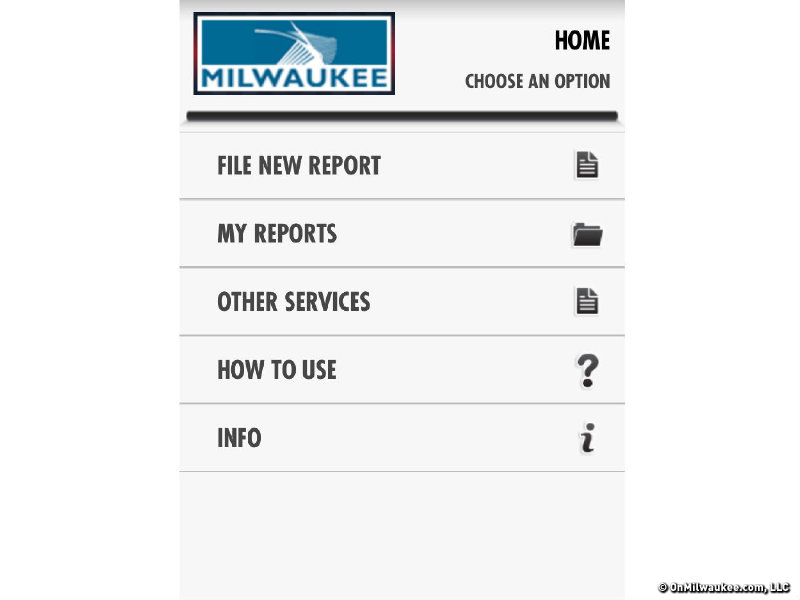 Milwaukee's new city services MKE Mobile app is basic and easy to use.