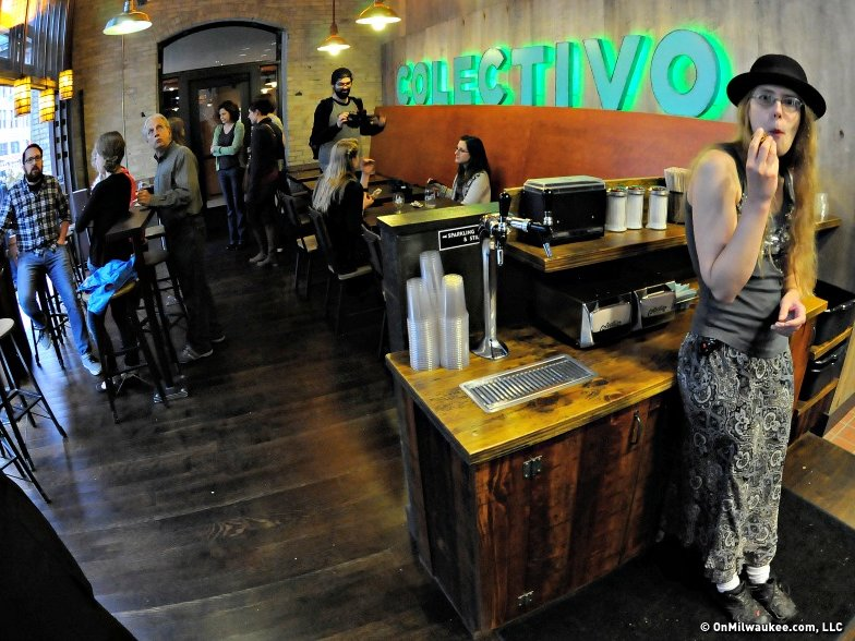 The new Colectivo cafe in the Third Ward has an open-air concept.