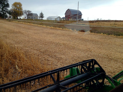 Shift switch: Harvesting soybeans