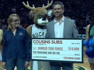 Cousins Subs, Milwaukee Bucks join together in big way to help Hunger Task Force