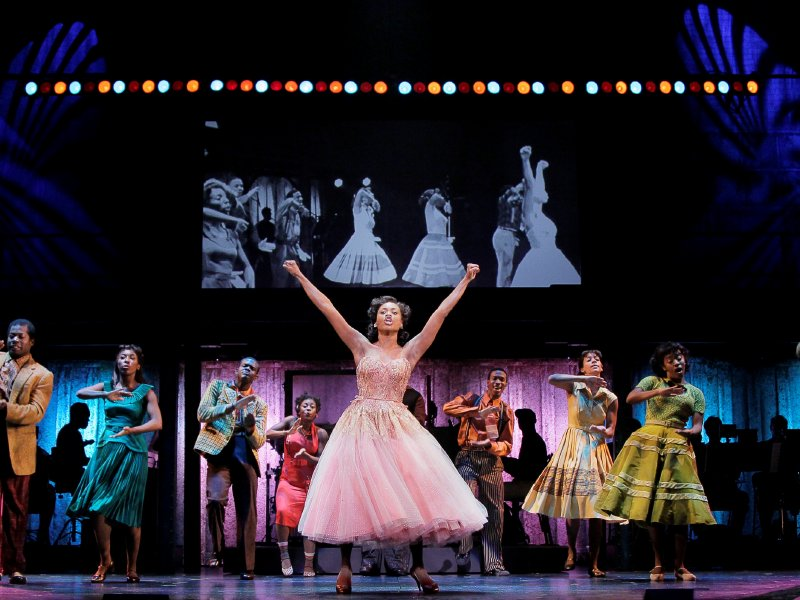 "Felicia Boswell (Felicia) and the national touring cast of ""Memphis."""