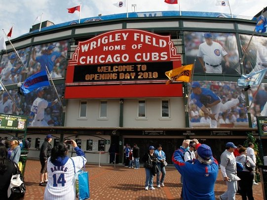 Wrigley Field was festive on Monday, but not as crazy as you'd think.