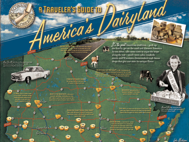 Let Wisconsins dairy map lead you to a fun and cheesy day out – Wisconsin Travel Map