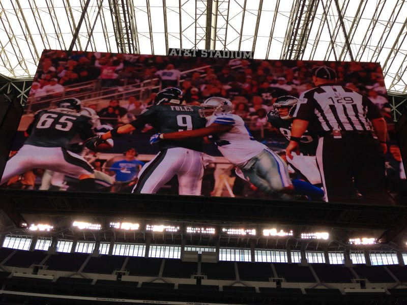 The big screen at AT&T Stadium, somehow even bigger in person.