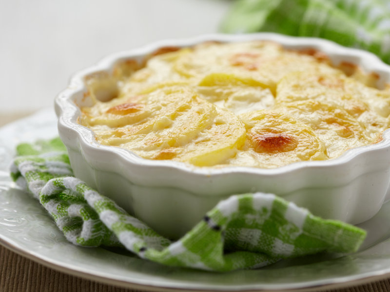 Daniel Jacobs' au gratin potatoes conjure up fond memories of his holidays past.