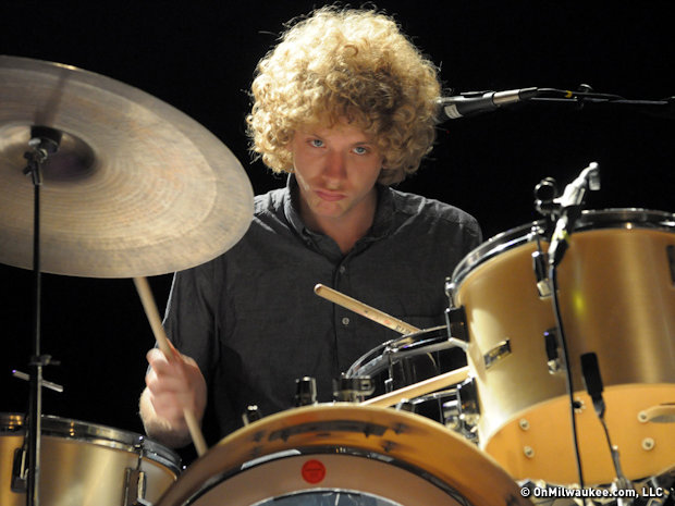 Taylor's brother Griffin Goldsmith on drums puts 100 percent into his effort.