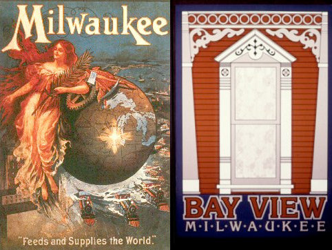 "Choose from 25 neighborhood posters, or the retro ""Milwaukee Feeds and Supplies the World."""
