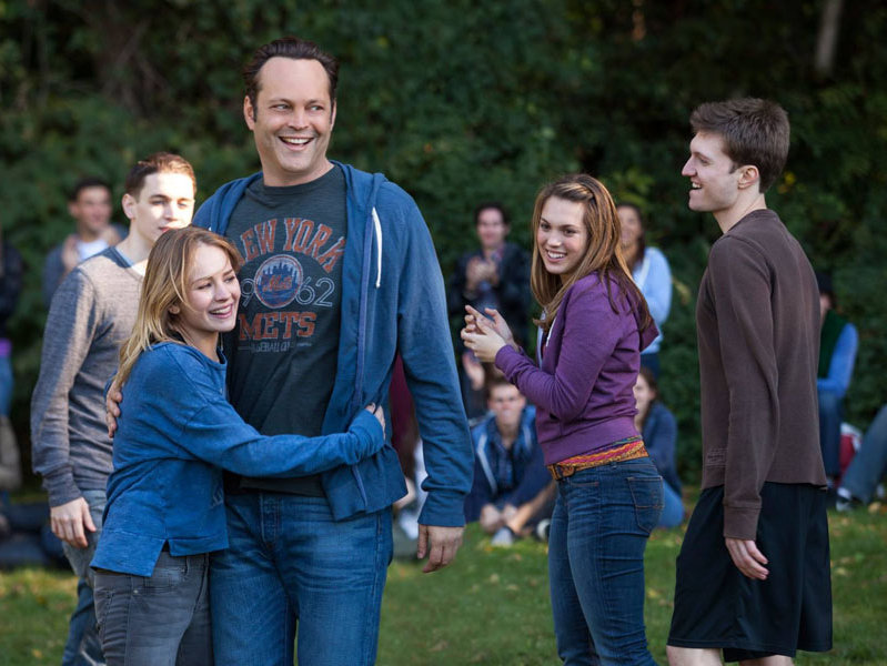 "Vince Vaughn's David Wozniak learns he's the father of 533 children in ""Delivery Man."""