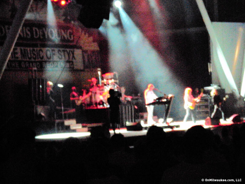"Former Styx star Dennis DeYoung held his ""Grand Reopening"" Friday night at the BMO Harris Pavilion."