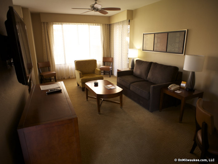 One of the many rooms in our huge suite at the Scottsdale Links Resort.