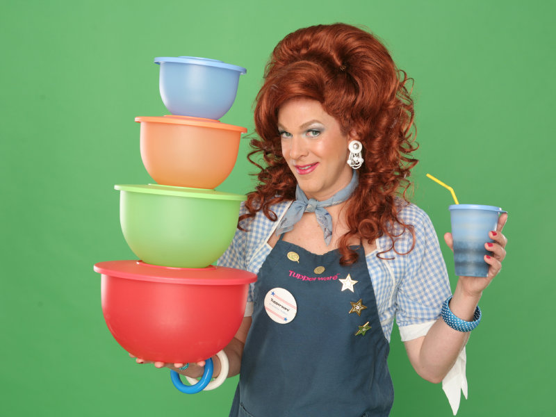 Dixie keeps her hands full with her Tupperware business and off-Broadway show.