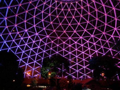Dazzling light show debuts renovated Domes Image