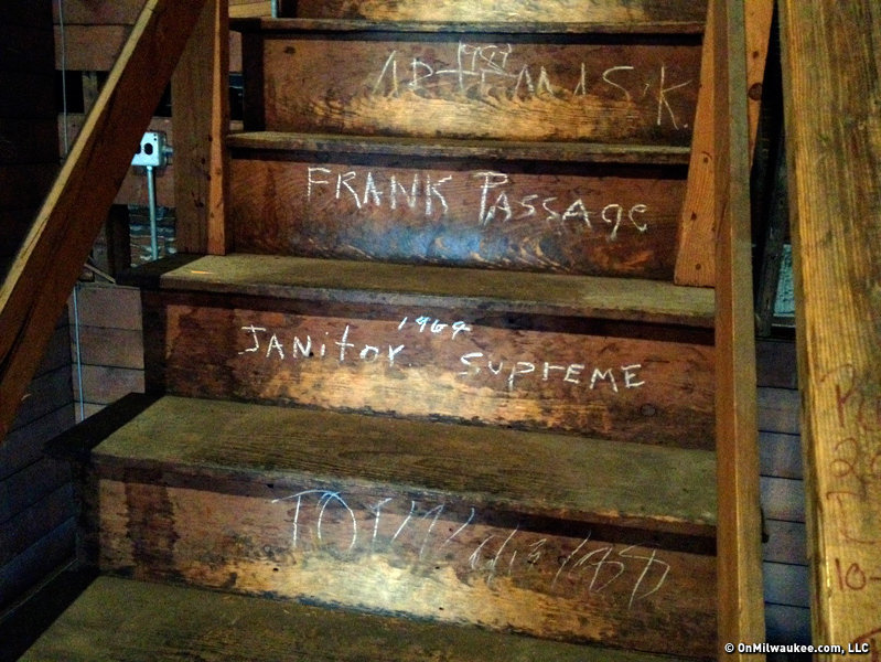Check out the graffiti in the attic at Eighth Street School.