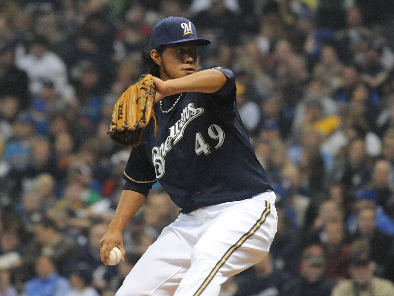 Yovani Gallardo pitched well on Tuesday night, helping stop the Brewers' 4-game losing streak.