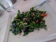 Kil@wat offers a Watercress Salad as a lighter second course lunch option.