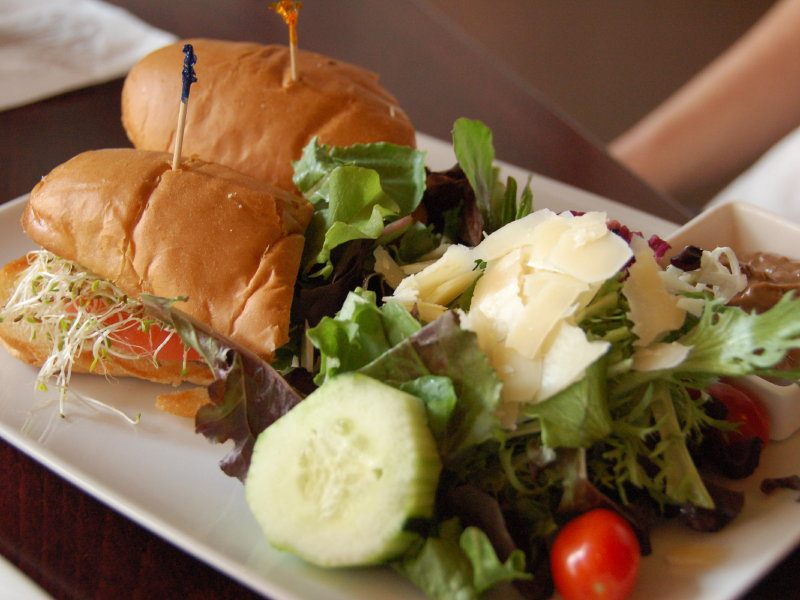 Swig offers a turkey and brie hoagie sandwich plus size as one option for the second course.