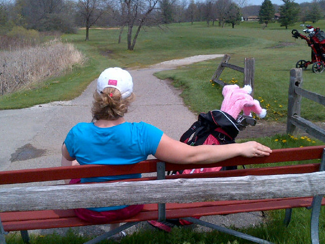 On the links at Oakwood Golf Course.