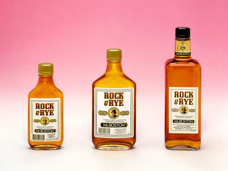 The Rock and Rye contains rye, of course, as well as rock candy.