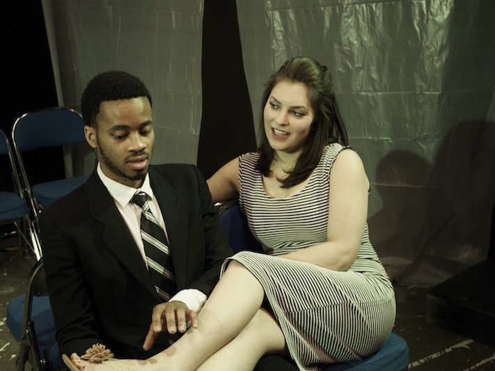 "Marques Causey and Sasha Katherine Sigel star in ""Dutchman."""